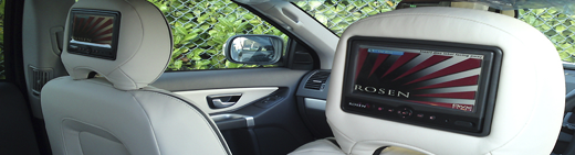 Volvo XC90 fitted with Rosen AV7500 screens