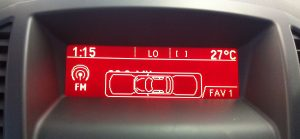 Vauxhall Parking Sensor display integration