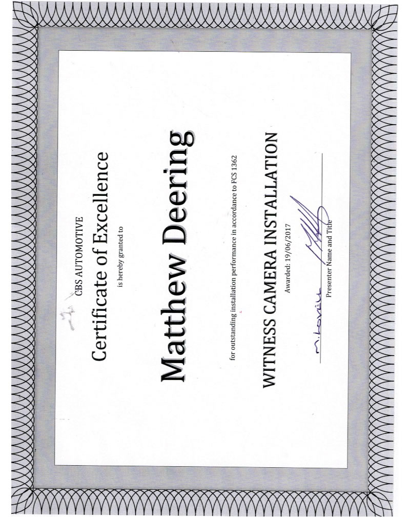 certificate-of-excellence-mathew-deering-witness-camera-installation