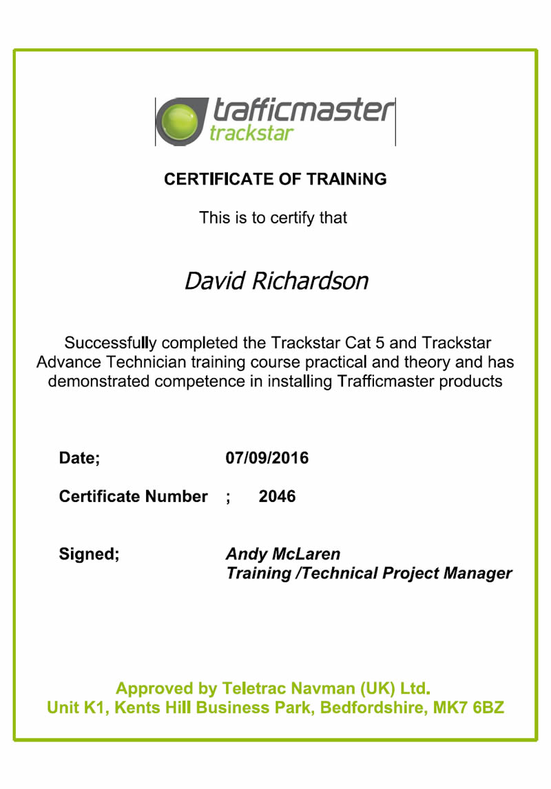 trafficmaster-certificate-of-training-david-richardson