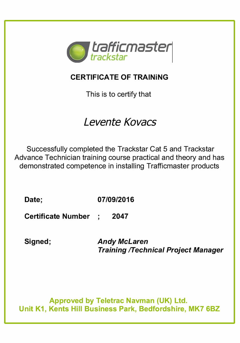 trafficmaster-certificate-of-training-levente-kovacs